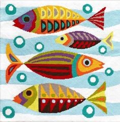 Emily Peacock Retro Moderns - Mid-Century Fish