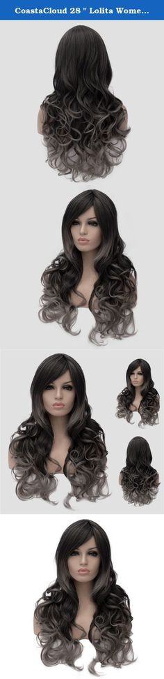 """CoastaCloud 28 """" Lolita Women's Curly Hair Wig New Fashion Long Big Wavy Hair Heat Resistant Wig for Cosplay Party Club Costume + Hairnet (Black Brown). Feature: 1.Excellent quality of high-temperature synthetic fiber. 2.With a wig-centering design, it is made of high-temperature wire; it can be straightened by hair sticks. 3.It is both natural-looking and soft to the touch. The size is adjustable, and no pins or tape should be required. It should fit most people's heads. 4.The product..."""
