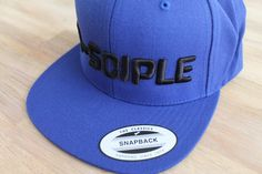 Royal blue snapback. 3D embroidery di-sciple