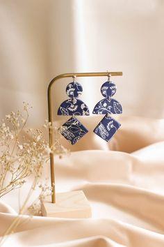 Lightweight handmede earrings statement geometric blue | Etsy Blue Earrings, Statement Earrings, Travel Jewelry, Beautiful Gift Boxes, Minimalist Earrings, Polymer Clay Earrings, Modern Jewelry, Photo Jewelry, Flower Patterns