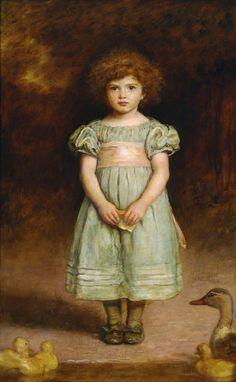 Rose Briar - pre-raphaelisme:   Ducklings by John Everett Millais 1889