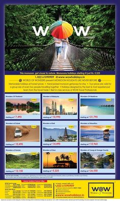 WOW Monsoon Special Media Campaign, Monsoon, New Zealand, How To Memorize Things, Europe, Canada, Australia, Tours, World