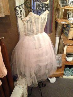 White Chiffon Corset Dress