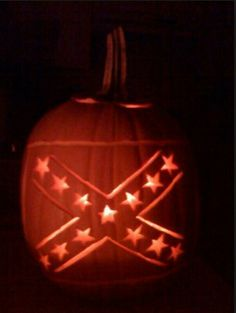 Rebel Flag pumpkin carving