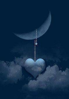 {Heart} I love you to the moon & back #love #art #moon #heart