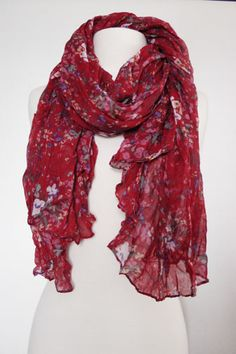 Oversized Floral Scarf