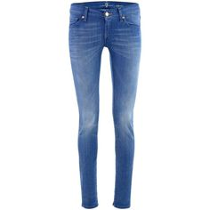 7 for all mankind Light Blue Jeans Olyvia ($310) ❤ liked on Polyvore