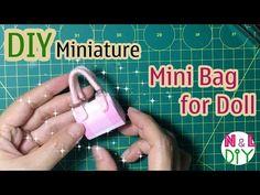 Miniature bag diy │ How to make a miniature purse │ Doll Stuff - YouTube