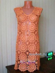 Crochet sundress - Work of Mary - Diagrams at site