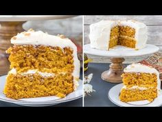 This pumpkin toffee crunch cake is a mouth full of fall. Super moist with tons of pumpkin flavor, bits of crunchy, buttery toffee throughout, then covered in cinnamon cream cheese buttercream. Caramel Apple Cheesecake, Caramel Apples, Mini Carrot Cake, Diabetic Friendly Desserts, Thanksgiving Desserts Easy, Crunch Cake, Caking It Up, Best Cake Recipes, Pumpkin Recipes