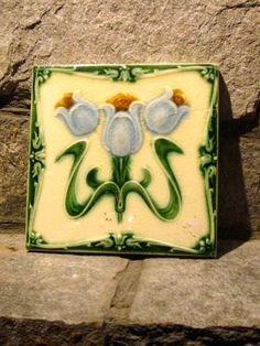 English Art Nouveau Ceramic Tile
