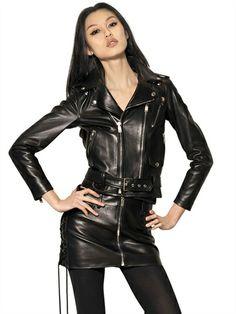 F/W 13-14 Love of Leather   SAINT LAURENT - PERFECTO PLONGE NAPPA LEATHER JACKET