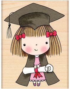 Graduate Mimi - Rubber Stamp