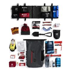 Survival System from Uncharted Supply Co. Carefully kitted out by survival experts, this emergency pack contains everything you need to survive in a hurricane, earthquake, or any other emergency situation! Survival Items, Survival Supplies, Survival Equipment, Camping Supplies, Survival Food, Outdoor Survival, Survival Knife, Survival Prepping, Emergency Preparedness