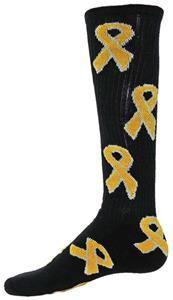 Red Lion Childhood Cancer Gold Ribbon Socks