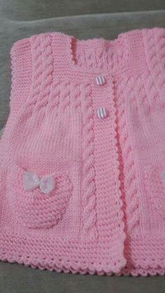 This Pin was discovered by Ayl Knit Baby Sweaters, Knitted Baby Clothes, Baby Pullover, Baby Cardigan, Crochet Jacket, Knit Crochet, Knit Baby Dress, Baby Coat, Pullover Designs