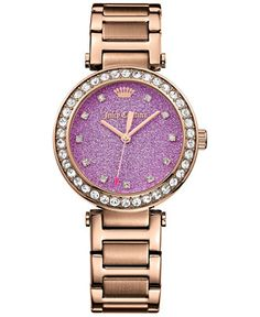 Juicy Couture Women's Cali Rose Gold-Tone Stainless Steel Bracelet Watch 34mm 1901329 - Women's Watches - Jewelry & Watches - Macy's