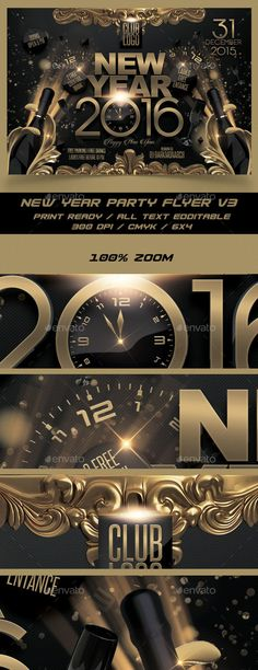 New Year Party Flyer  Party Flyer Flyer Template And Design