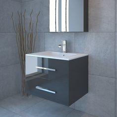 Buy Sonix 800 2 Draw Wall Hung Bathroom Vanity Unit Grey