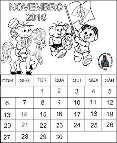 Calendário para Educação Infantil - Novembro 2016