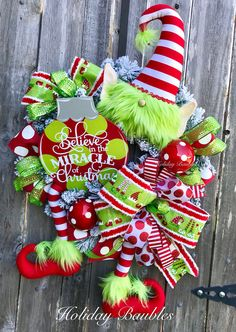 A personal favorite from my Etsy shop https://www.etsy.com/listing/554208984/whimsical-elf-wreath-elf-wreath