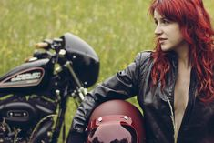 Motorcycle Girl 046 ~ Return of the Cafe Racers These guys know I have a thing for Redheads, damn them, damn them to hell......LOL