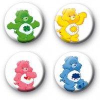 Set of 4 Care Bear Button Badges  Button Badges £0.85