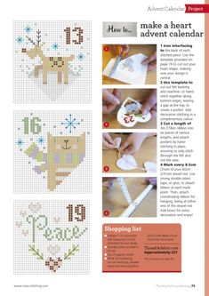 Cross Stitch Cards, Cross Stitching, Cross Stitch Embroidery, Cross Stitch Patterns, Ribbon On Christmas Tree, Christmas Cross, Xmas, Christmas Ornaments, Heart Shapes