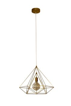 Himmeli Light Diamond Cage pendant Geometric Brass Gold matte Chandelier…