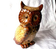 Owl Candle Holder Retro Ceramic Woodland Owl by RinnovatoVintage