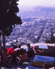 Looking like many smoggy cities this day - but still so beautiful - overlooking Athens to the Acropolis in the distance - taken from The Chapel of St. George atop Mount Lycabettus (also called Lycabettus Hill) -- www.melawend.com