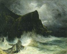Eugène Isabey - La tempête, naufrage