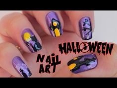 Como fazer unhas decoradas de Gato Preto para o Halloween - YouTube