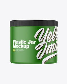 Plastic Jar Mockup in Jar Mockups on Yellow Images Object Mockups Free Mockup Templates, Phone Mockup, Best Logo Design, Shirt Mockup, Body Butter, Free Design, Ipad