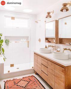 Beautiful master bathroom decor tips. Modern Farmhouse, Rustic Modern, Classic, light and airy bathroom design ideas. Bathroom makeover tips and master bathroom renovation some ideas. Wood Bathroom, Bathroom Renos, Bathroom Inspo, Bathroom Renovations, Bathroom Inspiration, Home Renovation, Bathroom Ideas, Neutral Bathroom, Remodel Bathroom