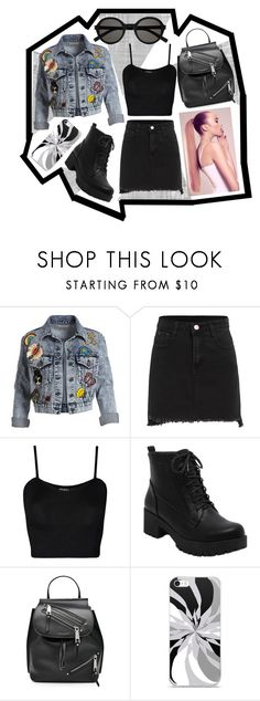 """Stylish Denim"" by claraoswinoswald7 ❤ liked on Polyvore featuring Alice + Olivia, WearAll, Marc Jacobs and Yves Saint Laurent"