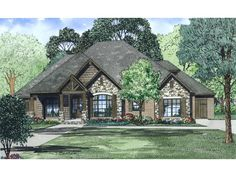 Craftsman Plan with 2340 Square Feet and 3 Bedrooms from Dream Home Source | House Plan Code DHSW076425