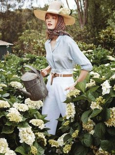 Marie Claire Australia's In Bloom Story Boasts Floral Fashions #fashion trendhunter.com