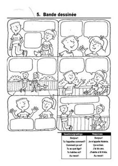 Comic strips for students to fill in. Great for foreign