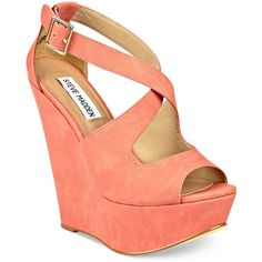 Steve Madden Women's Shoes, External Wedge Sandals ($89) ❤ liked on Polyvore