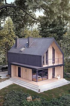 Some modern barn home owners prefer to keep the huge open space in the barn home. - Some modern barn home owners prefer to keep the huge open space in the barn homes adding just a par - Modern Barn House, Barn House Plans, Modern House Design, Barn Plans, Modern Cottage, Modern Architecture, Future House, Building A House, Building Homes