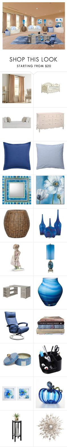 """""""I Love Blue"""" by bamasbabes on Polyvore featuring interior, interiors, interior design, home, home decor, interior decorating, Pier 1 Imports, Southern Tide, ferm LIVING and Trademark Fine Art"""