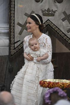 Princess Sophia with son Alexander on his Christening day..Sept. 2016