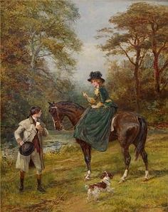 The Village Postman & The Rendezvous (Pair) by Heywood Hardy from Haynes Fine Art of Broadway