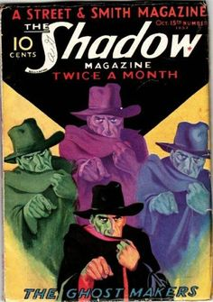 The Shadow Magazine Pulp Fiction Magazine Cover