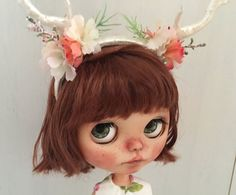 Custom Blythe doll, OOAK custom Blythe, blythe doll, art doll, big eyes art