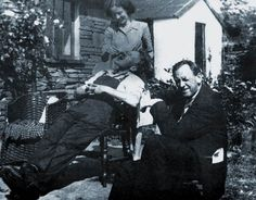 Kurt Schwitters (seated, facing camera) with Edith Thomas and Bill Pierce Senion, Cylinders 1947