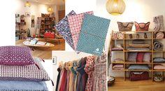 From digital shelter magazine, Lonny, these beautiful textiles by designer Usha Bora of Jamini