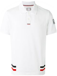Moncler Gamme Bleu Red Cotton Polo With Side Bands Polo Shirt Style, Polo Shirt Outfits, Polo T Shirts, Collar Shirts, Sport Shirt Design, Sport T Shirt, Camisa Polo, Moncler, Polo Vest