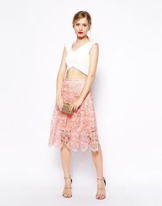 ASOS+Premium+Midi+Skirt+in+Lace